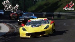 assetto corsa corvette c7r hot lap em nordschleife g27