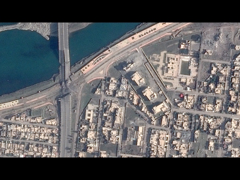 Thumbnail: Satellite Imagery: The Islamic State Wreaks Havoc on Mosul's Bridges