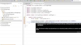 Java Bukkit Plugin Tutorial: Crafting Recipes