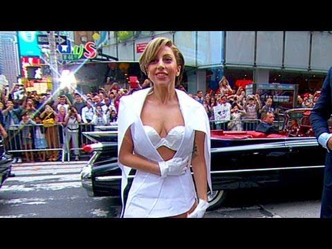 Lady Gaga  Stuns on 'GMA' With Paper Dress