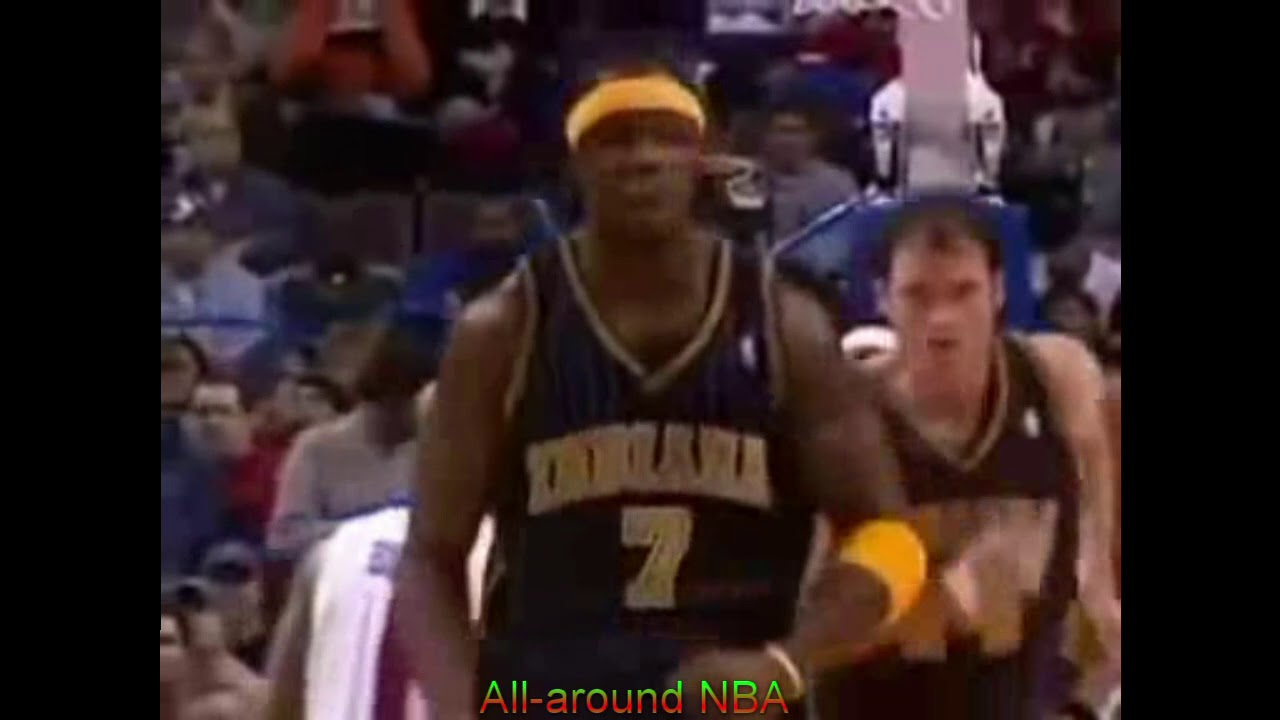 NBA Duels Jermaine O Neal 20 Pts Vs Rasheed Wallace 19 Pts 2004