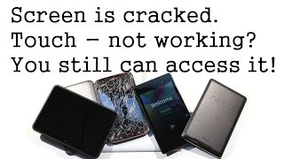 Cracked Screen? Touch Not working? How to Access it and reset. Works on Tablets and phones!