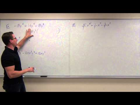 Intermediate Algebra Lecture 6.1:  Factoring the Greatest Common Factor (GCF)