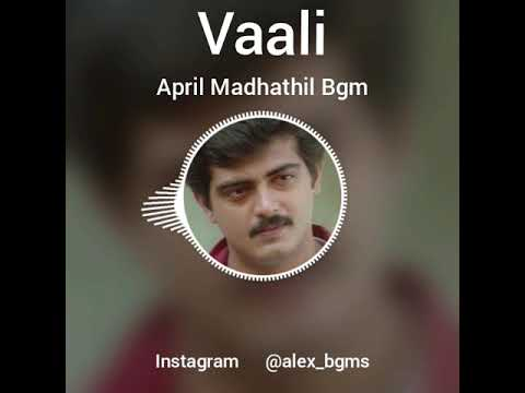 April Mathathil Song Bgm [ Vaali ].....Ajith....Deva....Love Bgm.....Whatsapp Status.....