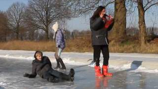 Jesse and Eva; BLOOPERS, ice-fails!