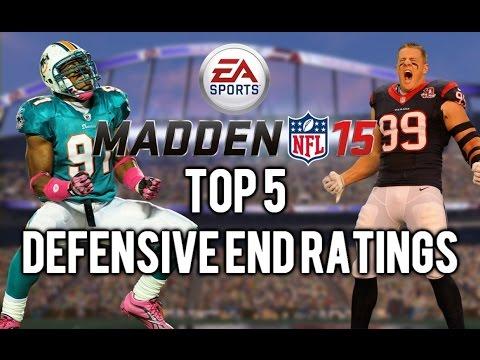 Madden 15 - Top 5 Defensive End Overall Ratings - Ft. J.J. Watt, Robert Quinn & Cameron Wake