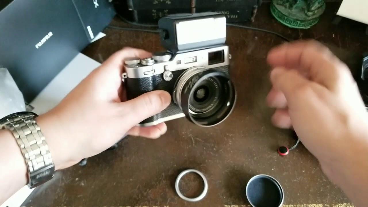 UNBOXING Fujifilm X100f + EF-X20 flash + TCL-X100 Teleconverter