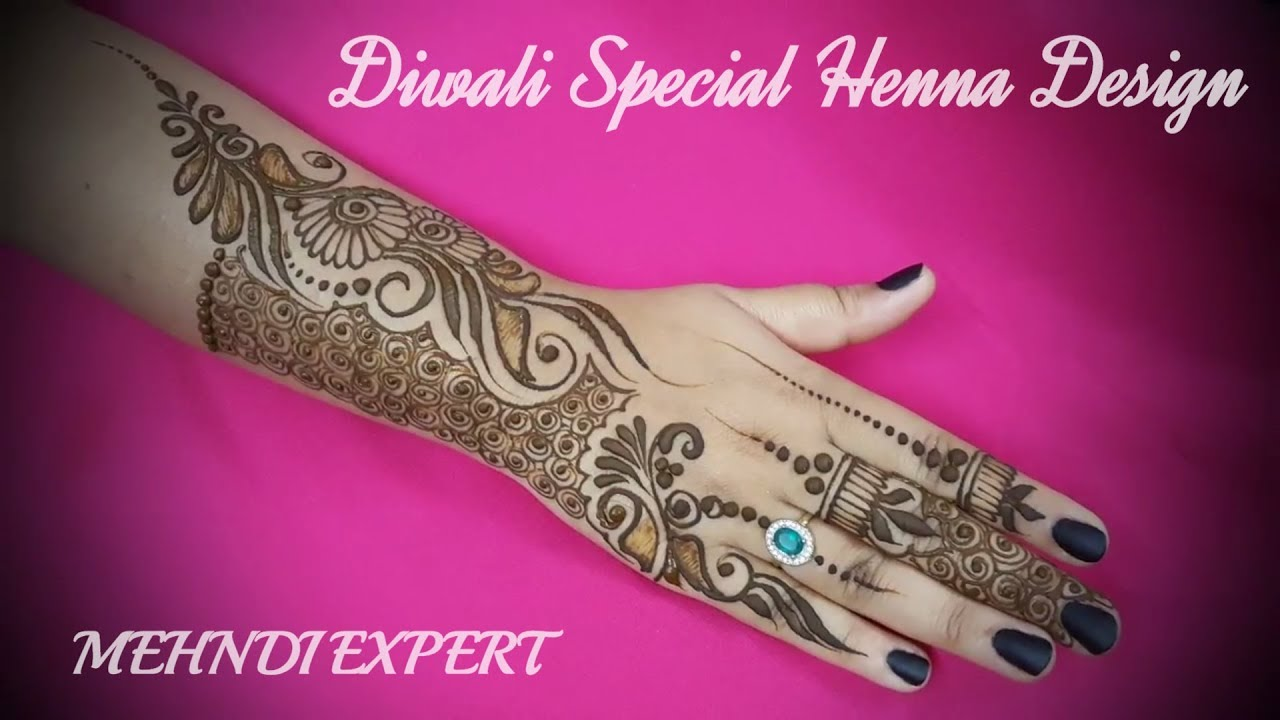 Henna Or Mehndi : Diwali special indo arabic henna or mehndi design for hands