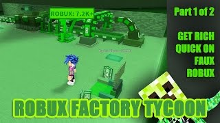 ROBLOX ROBUX Machine in Factory Tycoon Part 1