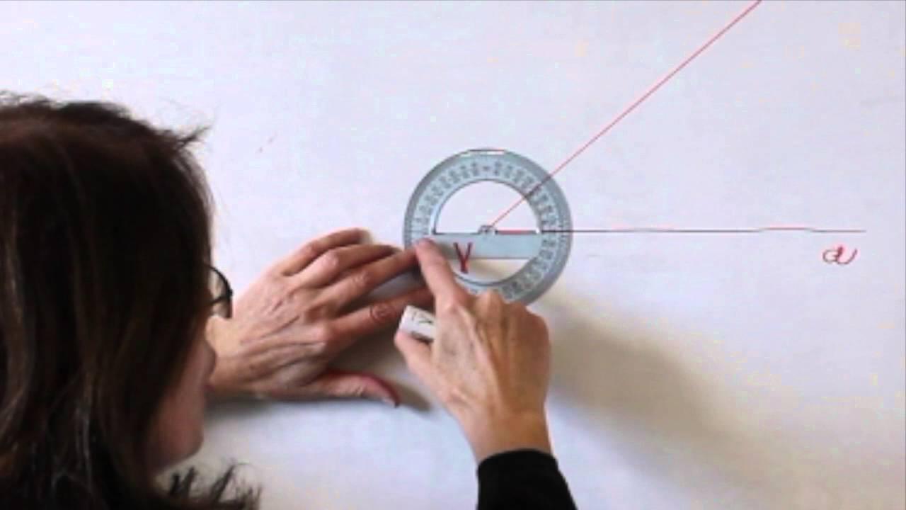 uso goniometro per misurare e disegnare angoli  YouTube