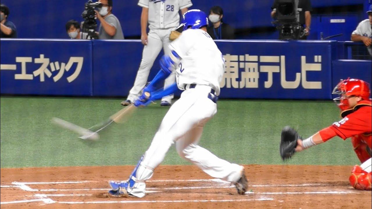 石川昂弥 プロ初打席初ヒットはツーベース!@ナゴヤドーム三塁側 20200712
