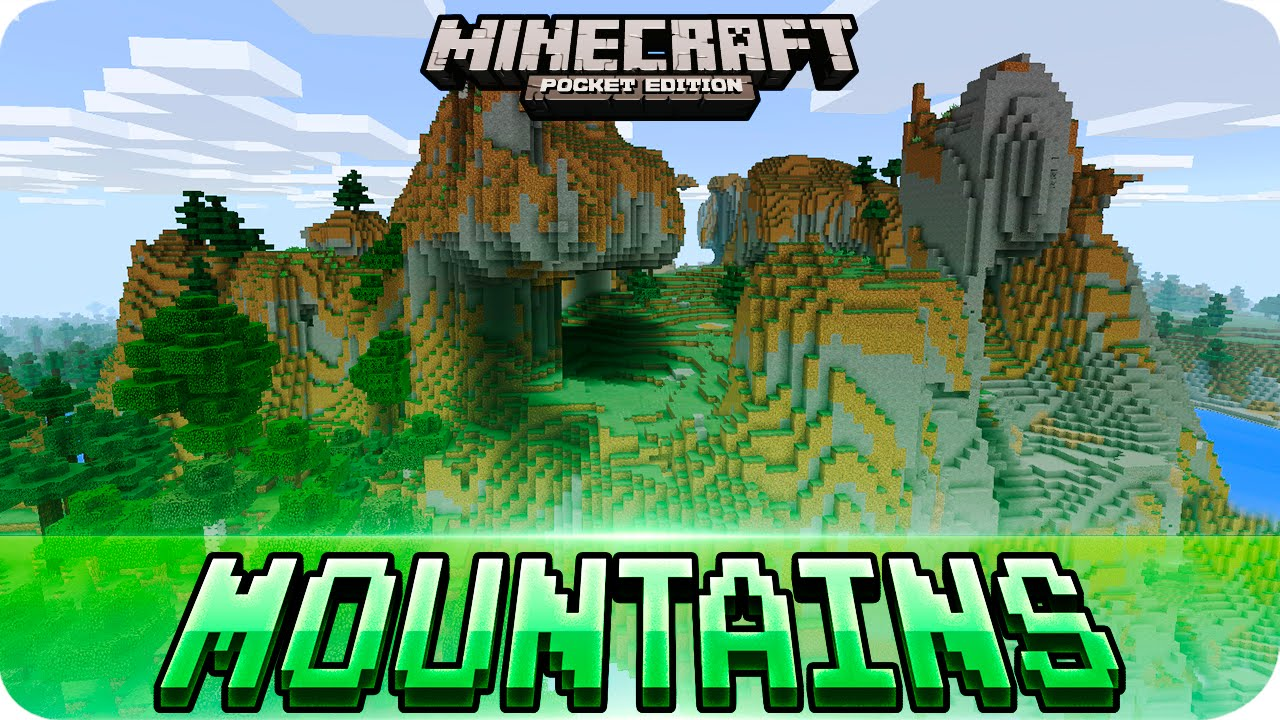 Minecraft PE Seeds - Huge Mountains at Spawn Seed // 0 16 0 - 0 12 0 MCPE
