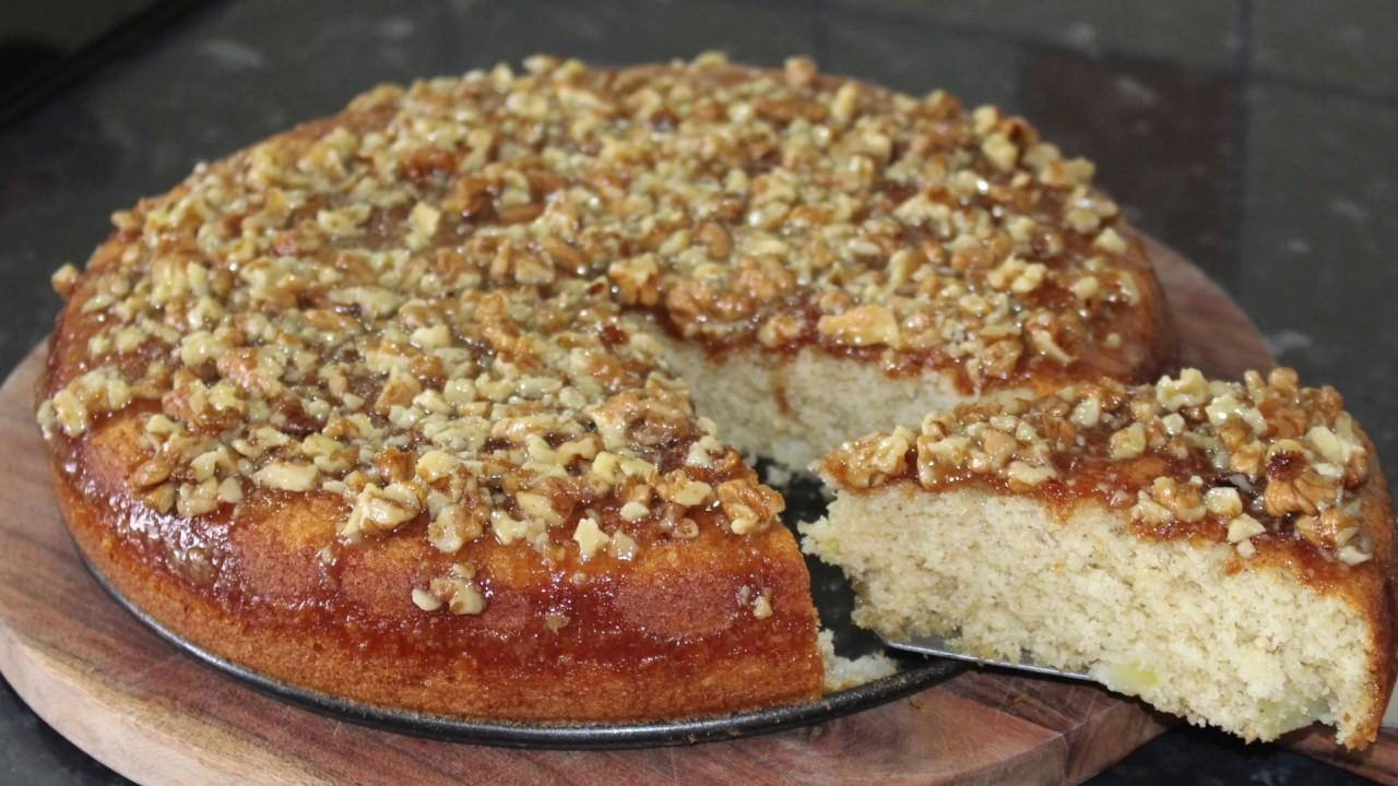 Gün Masalarının Kraliçesi  Olacak  ceviz krokanlı elmalı bulut kek tarifi