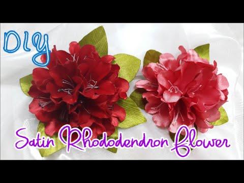 D.I.Y. Satin Rhododendron Flower Tutorial | MyInDulzens