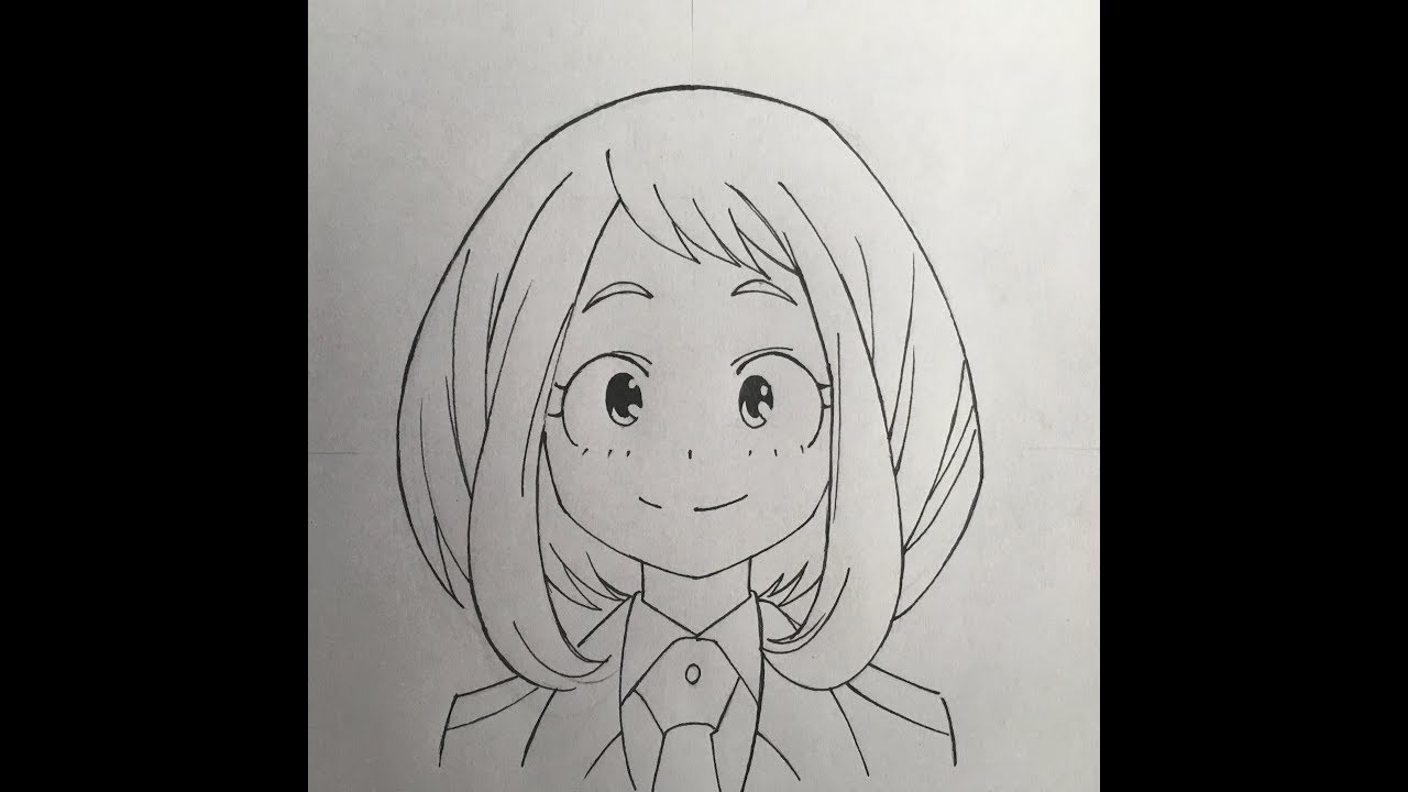How To Draw Uraraka My Hero Academia Youtube