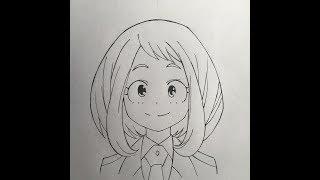 How to draw Uraraka (My Hero Academia)