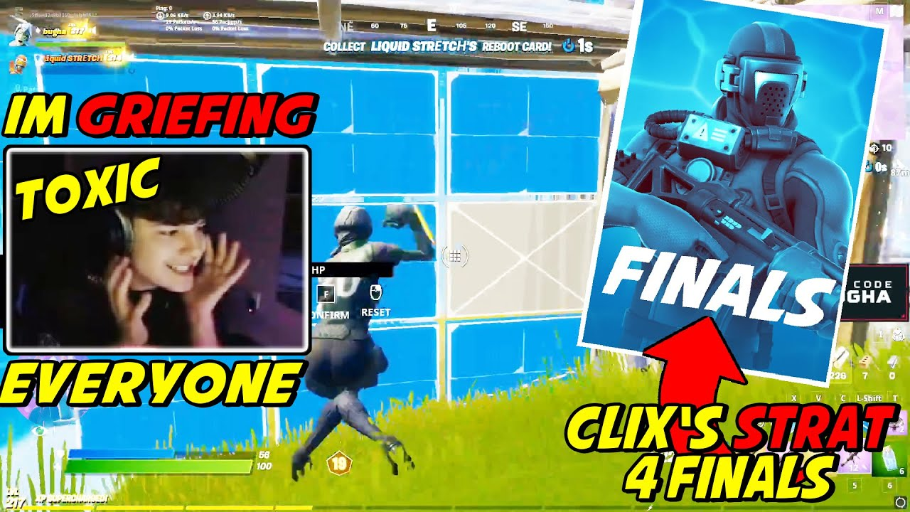 Clix Explains Why He's GRIEFING Everyone Landing At His Spot For Better Chances To WIN The Finals
