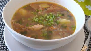 Гречневый суп ДИЕТИЧЕСКИЙ  РЕЦЕПТ блюда из курицы  как  приготовить вкусно и быстро на ОБЕД