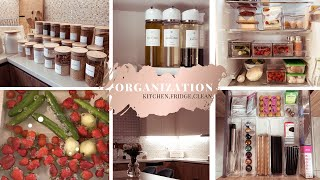 *NEW* ORGAZINATION 2021 | kitchen, clean  + FRIDGE ORGANIZATION| Nikoleta Ger