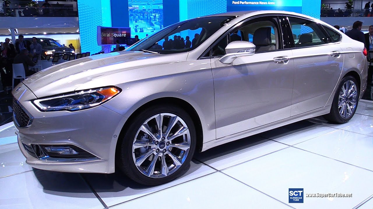 2017 Ford Fusion Platinum Exterior And Interior Walkaround Debut At 2016 Detroit Auto