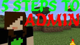 Repeat youtube video 5 Steps to Becoming an Admin - Minecraft