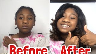 changed her life *makeover* ft affordable $85 eullair hair wig