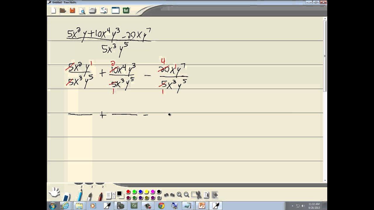 Monomial division homework help