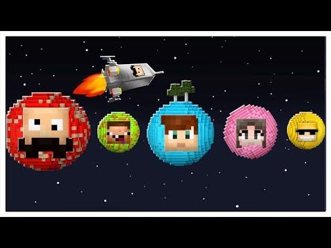 COME SOPRAVVIVERE SUI PIANETI DEGLI YOUTUBERS! - Minecraft ITA