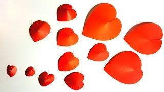 Как просто сделать красивые объемные сердечки из бумаги / Поделки ко Дню Влюбленных(Давайте вместе готовится ко Дню Св. Валентина? И делиться идеями украшения комнаты, поделками, подарками..., 2015-01-05T14:39:23.000Z)