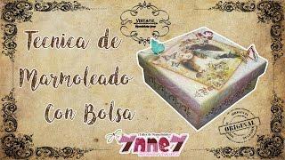 TECNICA DE MARMOLEADO CON BOLSA PLASTICA🗼MANUALIDADES YNNEY