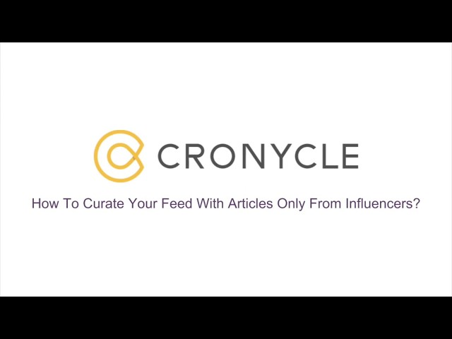 Curate Your Feed With Articles Only From Influencers