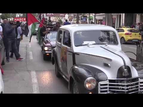 Ramallah'ta Nekbe tanığı otobüsler protestoda
