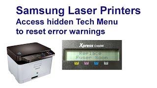 Скачать Samsung Xpress C460W Hidden Menus Reset Those Warnings