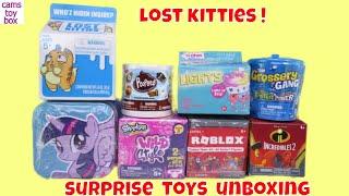 Num Noms Surprise Toys UNBOXING Shopkins My Little Pony Tin Roblox Incredibles 2 Kids Fun
