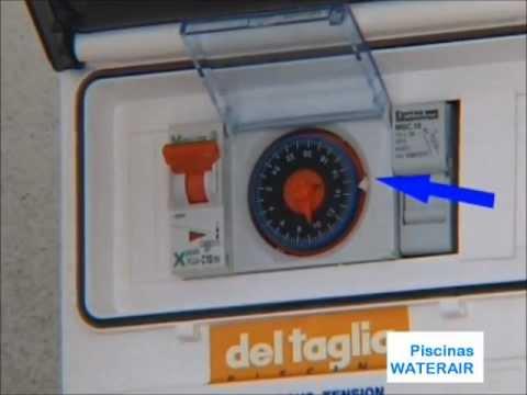 Reloj programador para luz doovi for Reloj piscina