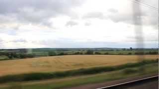 View from TGV (Montpellier-Paris, approx. 285km/h) | Вид з TGV (Монпельє-Париж)