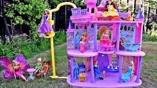 DISNEY Barbie Princess Ultimate Dream Castle Rapunzel Ariel Bell Elsa Supercastillo de Princessas