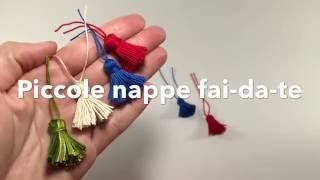 Come fare le nappe con una forchetta . Idea creativa fai da te per creare piccole nappine