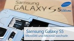 Samsung Galaxy S5 microSIM / SIM & MicroSD Karte / Akku einlegen und wechseln