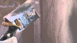 Проклеиваем углы лентой от Кнауф  !!1