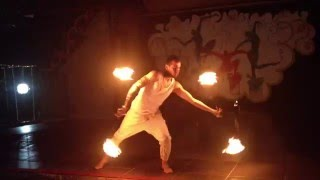 Amazing Fire Show Performance in Fantasia De Luxe Hotel  Kusadasi/TURKEY