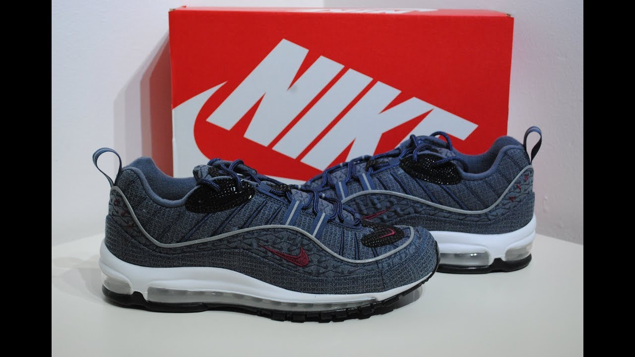 purchase cheap 276eb 5b2aa Nike Air Max 98 Thunder Blue UK 9 Product Presentation By Crime Clothing