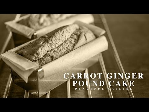 [No Music] How to make Carrot Ginger Pound Cake