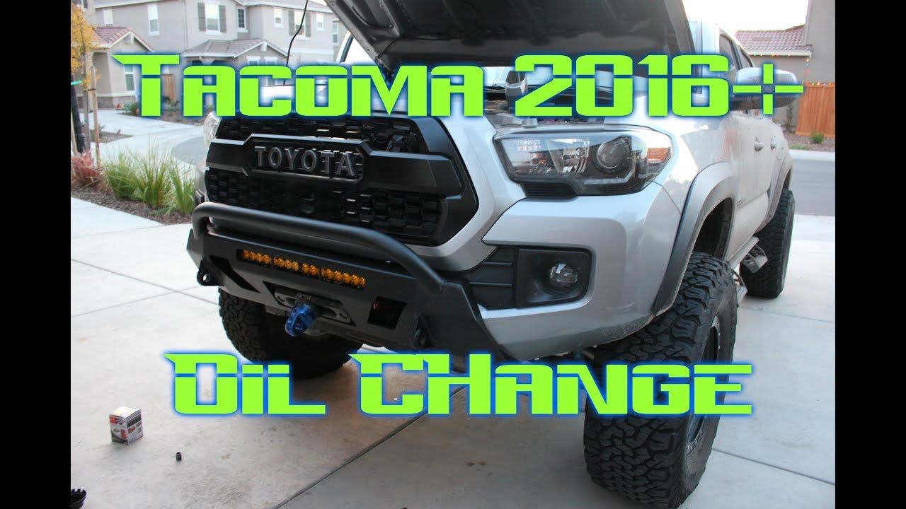 Toyota Tacoma Oil Change 2016 3rd Gen Youtube