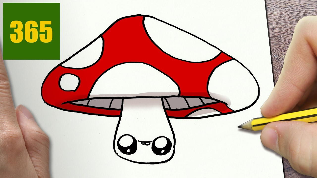 How To Draw A Mushroom Cute Easy Step By Step Drawing Lessons For Kids