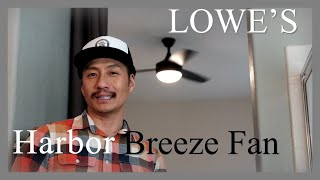 Harbor Breeze Remote Fan // Lowe's // how to Install