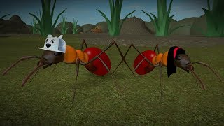 ROBLOX: OLD MAN AND AUNT GRACE TURNED GIANT ANTS!! (Ant Simulator)