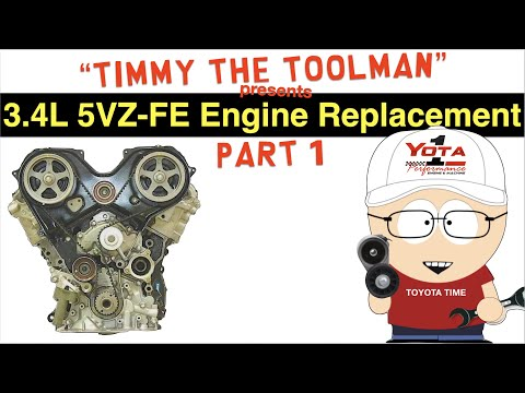 Toyota 3.4 Liter 5VZ-FE Engine Replacement (Part 1 – Engine Removal)