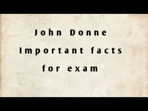 John Donne: important facts