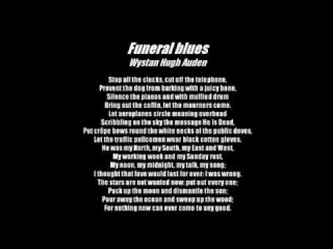 funeral blues analysis line by line